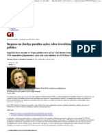 G1 - Impasse na Justiça paralisa ações sobre terceirização no setor público
