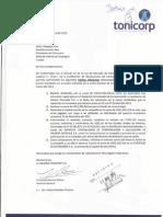 6 - Holding Tonicorp s a - Comunicado