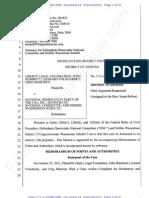 AZ -LLF - 2012-040-16 - DNC Motion to Dismiss & Memo Re Same