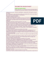 DESARROLLO PSICOMOTOR SEGÚN PIAGET