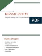 Mba Case 1 Wacc