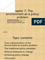 the environment as a policy problem