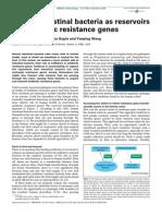 Human Intestinal Bacteria as Reservoirs