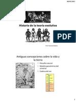 Historia de la teoría evolutiva