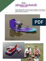 Modélisme - Hydroglisseur Rc Dossier - 3 Plans - Air Boat - Modelisme in Voiture, Avion, Bateau, Vapeur)