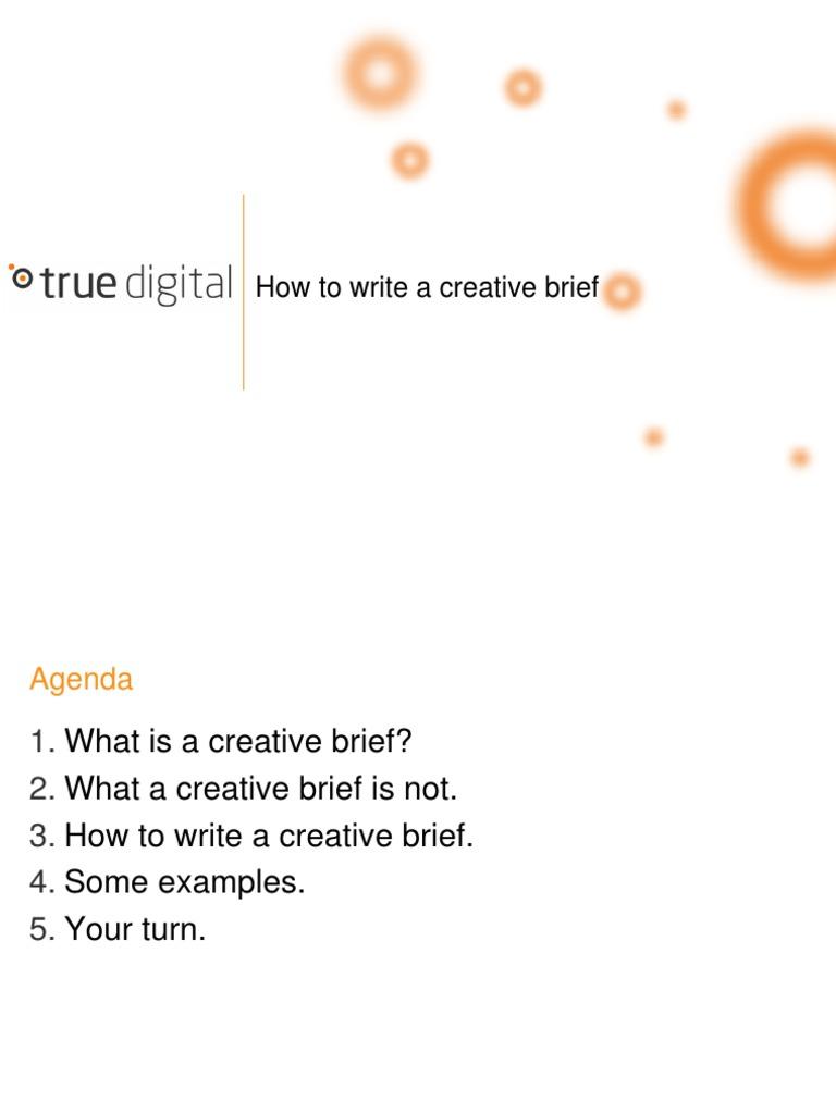 how to write creative brief