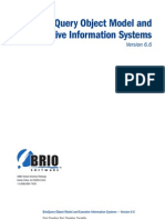 BrioQuery Object Model and Executive Information Systems