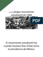 Cronología movimiento estudiantil de 1968