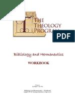 Bibliology & Hermeneutics Workbook Jul 2006