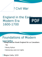 British Society Leading to Civil War