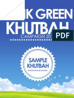 Think Green Khutbah April 20 2012 FINAL
