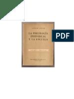 Adler Alfred La Psicologia Individual Y La Escuela