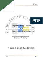 Organizacion y Gestion de Empresas Turisticas