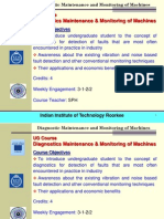 Diagnostic Maintenance and Monitoring of Machines1