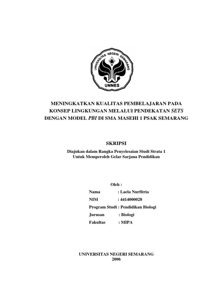 Skripsi Penelitian Kualitatif Pendidikan Biologi Pdf