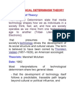 Technological Determinism Theory