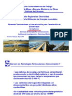 Concentrating Solar Thermal Systems for Generating Electricity
