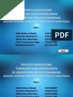 [Presentation] Mahasiswa Terhadap Gaya Berpacaran Di Universitas Negeri Semarang