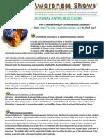 Environmotional Awareness Shows Info Sheet