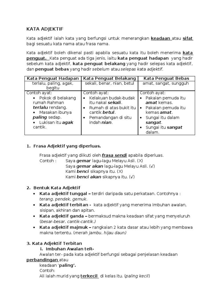 Topik 7 Kata Adjektif 1