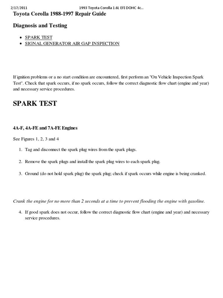 01 Distributor Ignition System Diagnosis Testing Autozone Wiring Diagram Ecu