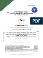 Biogographie Criquet Pelerin Au Niger