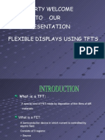 FLEXIBLE DISPLAYS USING TFT'S PPT