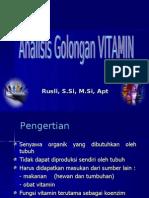 09. Analisis Golongan VITAMIN
