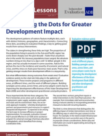 Connecting the Dots for Greater Development Impact