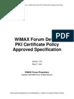 Wimax Forum Device Certificate
