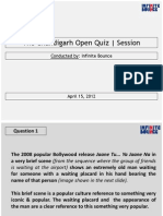 The Chandigarh Open Quiz | Session (April 15,2012)