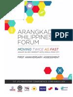Arangkada Philippines First Anniversary Assessment (revised)