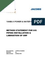 YT-PF-Z-16-00202 Rev B Method Statement of GRP - Copy