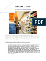 Budget Impact for FMCG Sector