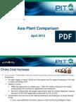 Asia Plant Comparison April 2012
