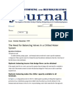 The Need for Balancing Valves