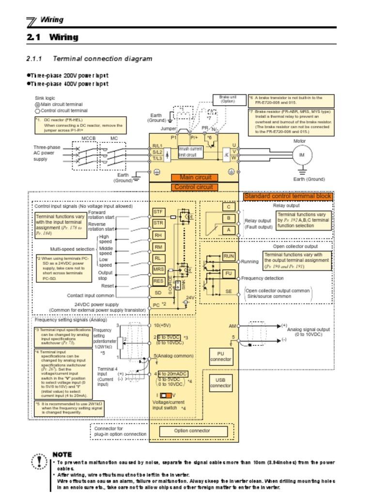 E700 Wiring