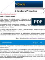 Rational Numbers Properties