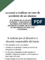 Acciones en Caso de Accidente
