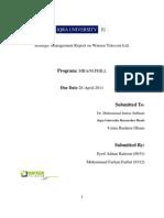 Strategic Management Report on Wateen Telecom Ltd