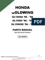 Honda Goldwing GL1500 1996 to 1998 Honda Parts Manual-55E90