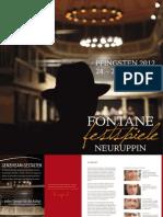 Programmheft der Fontane Festspiele 2012