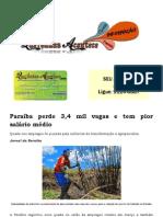 Paraíba perde 3,4 mil vagas e tem pior salário médio