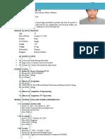 Resume for Job Application