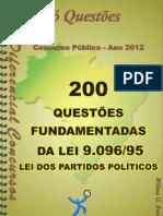 1698_LEI DOS PARTIDOS POLÍTICOS - LEI 9.096_95 -apostila amostra