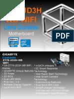 Gigabyte GA-Z77X-UD3H-WB WiFi Motherboard