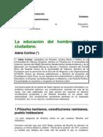 ÉTICA - Adela Cortina - La educación del hombre y del ciudadano