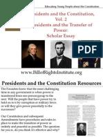 PC 2 Transfer of Power-Scholar Essay-Student Program