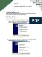 ZTE C261 USB Quick Guide Installation for Win XP Indo