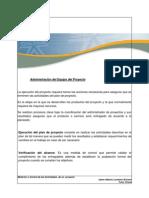 Material Administración del Equipo del Proyecto